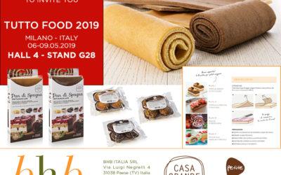 BHB esporrà alla prossima fiera TUTTO FOOD che si svolgerà a Milano dal 6 al 9 Maggio 2019